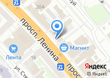 Компания «Продуктовый магазин на проспекте Ленина» на карте