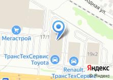 Компания «Toyota» на карте