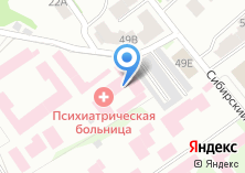 Компания «Психиатрическая больница специализированного типа с интенсивным наблюдением» на карте