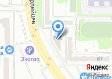 Компания «Строящееся административное здание по ул. Молодогвардейцев» на карте