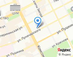 Компания Международный автоклуб, ПО на карте города