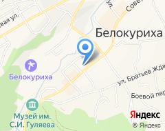 Компания Строящееся административное здание по ул. Мясникова (г. Белокуриха) на карте города