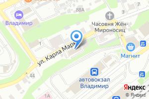 Компания «Отдел военного комиссариата Владимирской области по Октябрьскому и Фрунзенскому районам» на карте