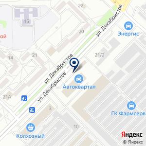 «Автоквартал» на карте