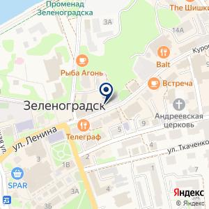 «Янтарный мир» на карте