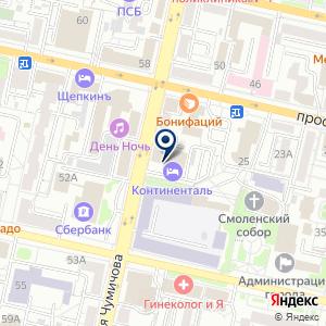 «Континенталь» на карте