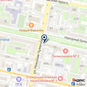 «Белгородская областная организация профсоюза работников здравоохранения РФ» на карте