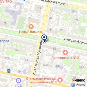 «Белгородская региональная организация профсоюза работников строительства и промышленности строительных материалов» на карте