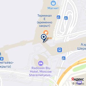 «Воздушный экспресс Шереметьево» на карте