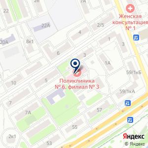 «Городская поликлиника №6» на карте