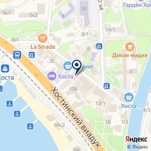 «Хоста» на карте