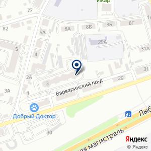 «Интерподшипник» на карте