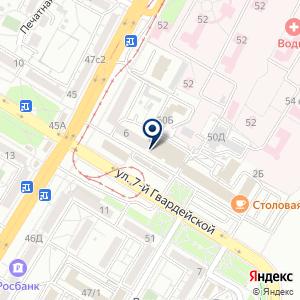 «Акцент» на карте