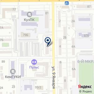 «Риэлт-сервис Кемерово» на карте