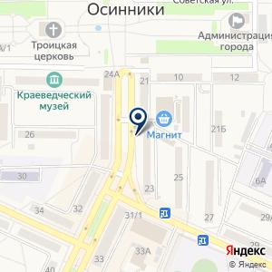 «Снежный городок» на карте