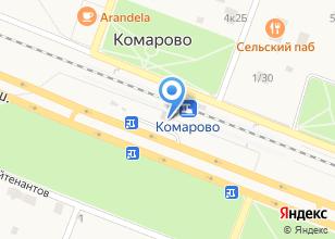 Компания «Комарово» на карте