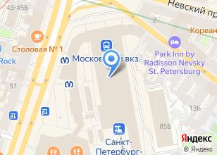 Компания «Московский железнодорожный вокзал» на карте