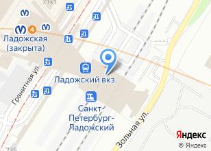 Компания «Ладожский железнодорожный вокзал» на карте