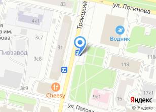 Компания «Магазин цветов на Троицком проспекте» на карте