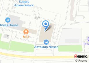 Компания «Автомир-Архангельск» на карте