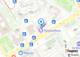 Компания «Экономбанк» на карте