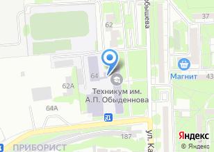 Компания «Казанский автотранспортный техникум им. А.П. Обыденнова» на карте