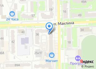 Компания «Шевроле» на карте