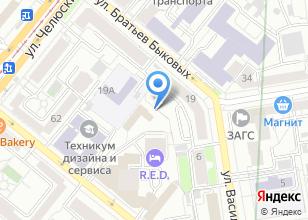 Компания «Строящееся административное здание по ул. Красный пер» на карте