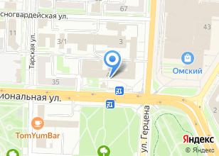 Компания «Главное Управление МЧС России по Омской области» на карте