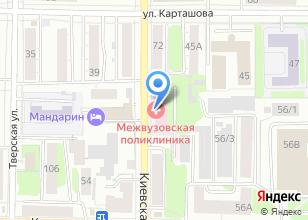 Компания «Межвузовская поликлиника» на карте