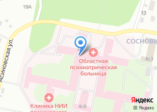Компания «Наркологический центр Томской клинической психиатрической больницы» на карте