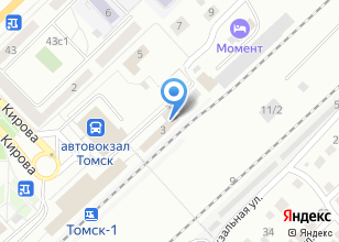 Компания «Томский линейный отдел МВД России на транспорте» на карте
