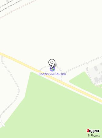 АЗС Братский бензин на карте