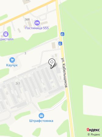 Труженик на карте