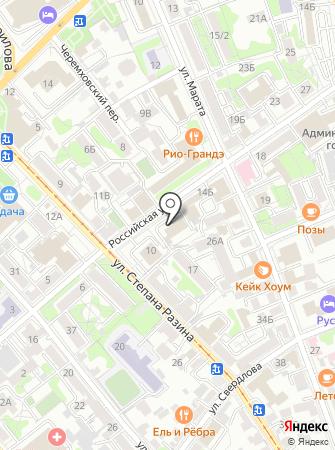 Областная на карте
