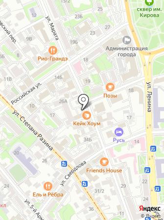 Карфи на карте