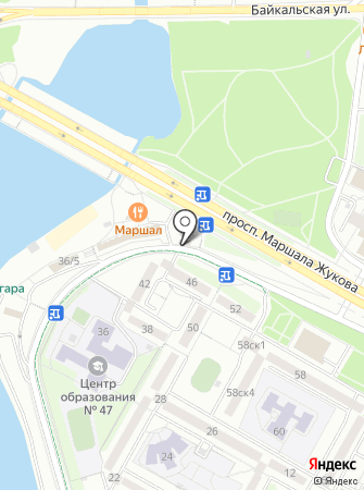 На проспекте на карте