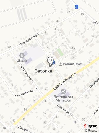 Администрация сельского поселения Засопкинское на карте