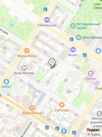 Фонд объектов и имущества ГО Читинской области Забайкальского края на карте