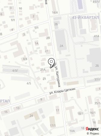 Авторемонтная мастерская на ул. Халтурина на карте