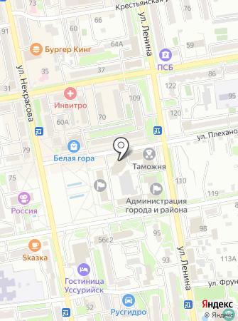 Управление Пенсионного фонда РФ по Уссурийскому городскому округу Приморского края на карте