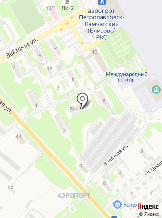Таможенный пост аэропорт Петропавловск-Камчатский на карте