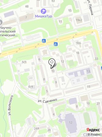 Мед-лайн на карте