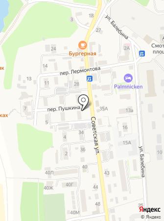 Торговая сеть по продаже хлебобулочных изделий на карте