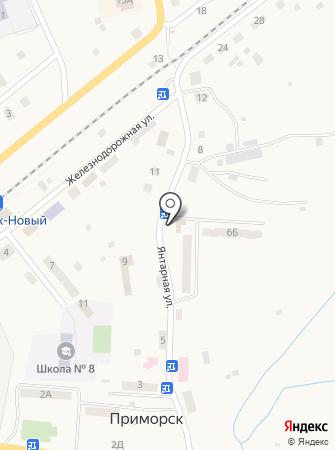 Приморское городское поселение на карте
