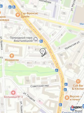 Калининградский завод металлоконструкций на карте