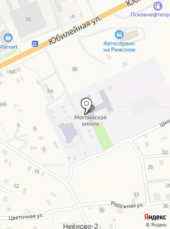 Моглинская средняя общеобразовательная школа на карте