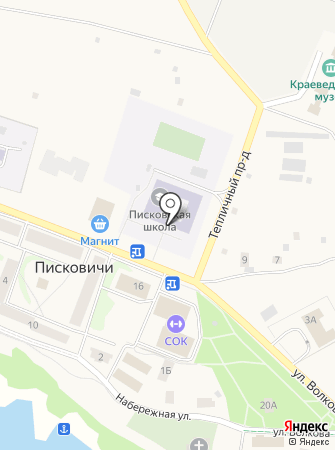 Писковическая средняя общеобразовательная школа на карте