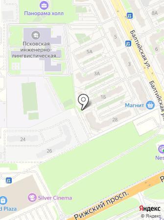 Псковжилстрой на карте