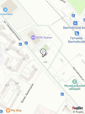 Автостоянка на ул. Генерала Кныша на карте
